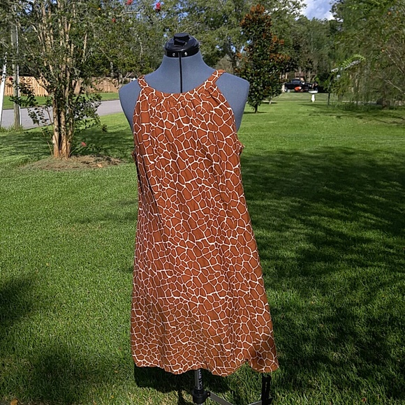Merona Dresses & Skirts - Giraffe print, summer dress